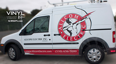 Partial vehicle graphic wrap with custom cut-vinyl van ford transit. Car Wrap Branding Cut Vinyl Graphics and Partial Wrap Vehicle Wraps
