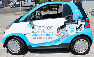 Vinyl wrap Smart Car Wraps Graphics. Best Car Wraps in Northern California Bay Area Custom Vehicle Wraps