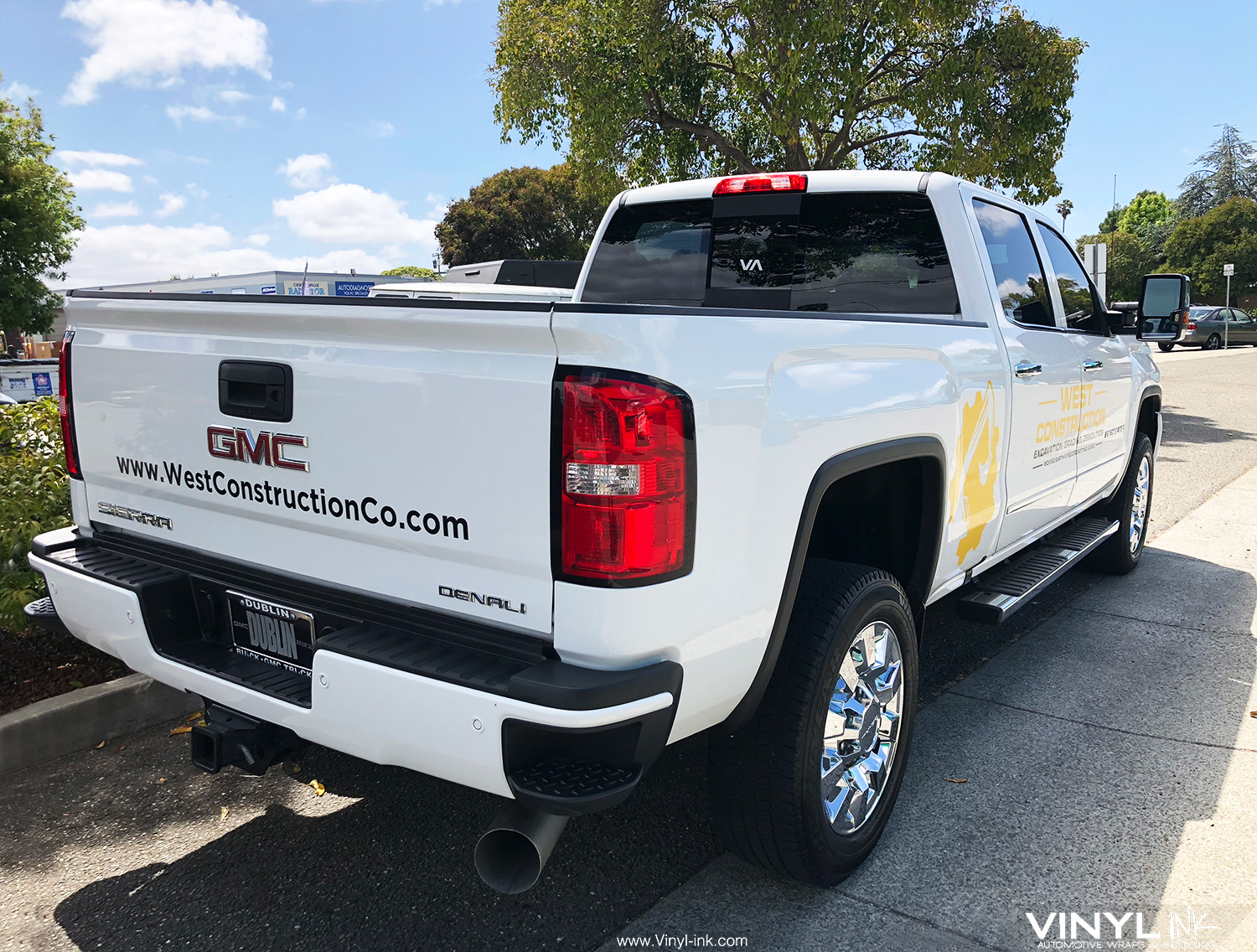 Graphic Decals and Cut Vinyl for West Construction GMC Truck